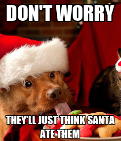 Poster: DON'T WORRY THEY'LL JUST THINK SANTA ATE THEM