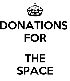 Poster: DONATIONS  FOR  THE SPACE