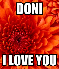 Poster: DONI I LOVE YOU