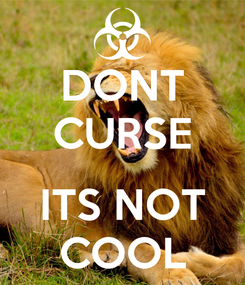 Poster: DONT CURSE  ITS NOT COOL