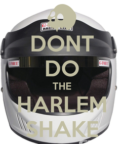 Poster: DONT DO THE HARLEM SHAKE