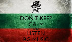 Poster: DON'T KEEP CALM AND LISTEN BG MUSIC