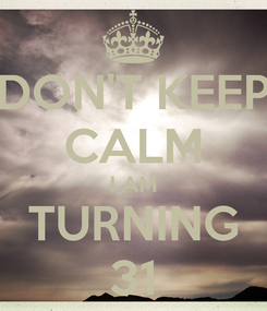 Poster: DON'T KEEP CALM I AM TURNING 31