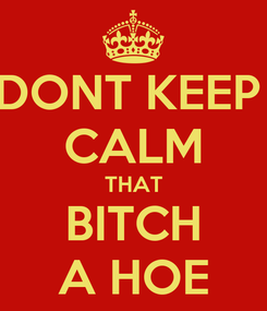 Poster: DONT KEEP  CALM THAT BITCH A HOE