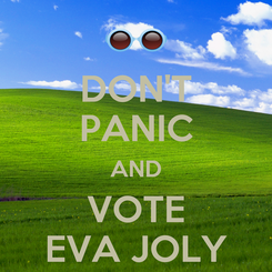 Poster: DON'T PANIC AND VOTE EVA JOLY