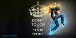 Poster: DON'T TOUCH DO  YOUR WORK