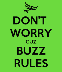 Poster: DON'T  WORRY CUZ BUZZ RULES