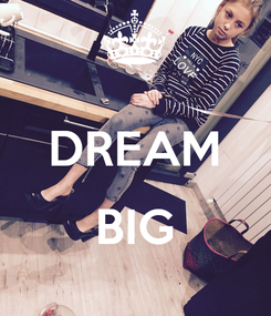 Poster:  DREAM  BIG