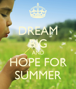 Poster: DREAM BIG AND HOPE FOR SUMMER