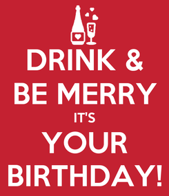 Poster: DRINK & BE MERRY IT'S YOUR BIRTHDAY!