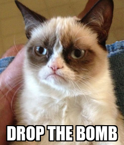Poster:  DROP THE BOMB