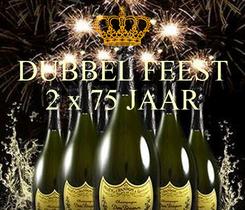 Poster: DUBBEL FEEST 2 x 75 JAAR