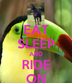 Poster: EAT SLEEP AND RIDE ON