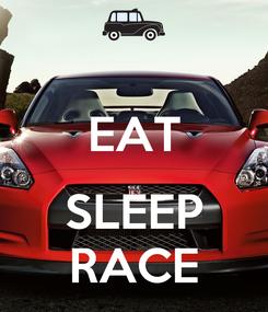 Poster:  EAT  SLEEP RACE