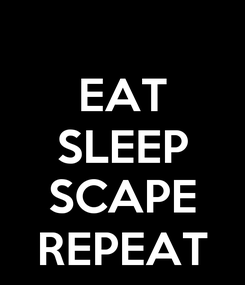 Poster: EAT SLEEP  SCAPE REPEAT