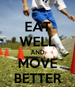Poster: EAT WELL AND MOVE BETTER
