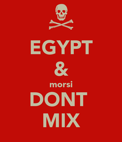 Poster: EGYPT & morsi DONT  MIX