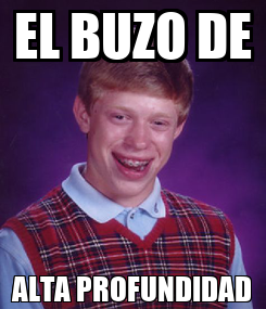 Poster: EL BUZO DE ALTA PROFUNDIDAD