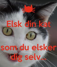 Poster: Elsk din kat   som du elsker dig selv...