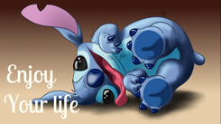 Poster:   Enjoy                                Your life