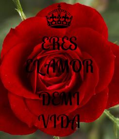 Poster: ERES EL AMOR  DEMI VIDA