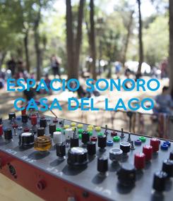 Poster: ESPACIO SONORO  CASA DEL LAGO