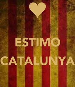 Poster:  ESTIMO  CATALUNYA