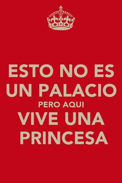 Poster: ESTO NO ES UN PALACIO PERO AQUI VIVE UNA  PRINCESA