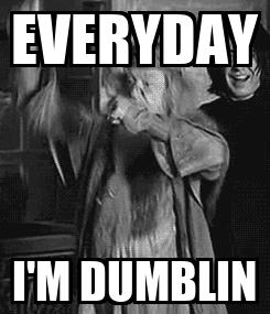 Poster: EVERYDAY I'M DUMBLIN