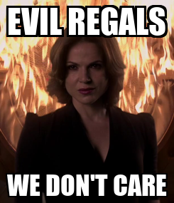 Poster: EVIL REGALS WE DON'T CARE