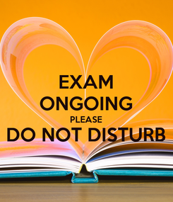 Poster: EXAM ONGOING PLEASE DO NOT DISTURB
