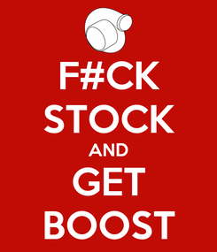 Poster: F#CK STOCK AND GET BOOST