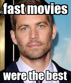 Poster: fast movies were the best