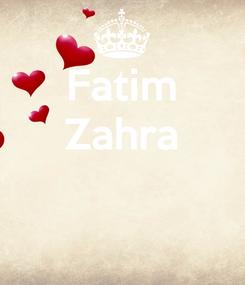 Poster: Fatim Zahra