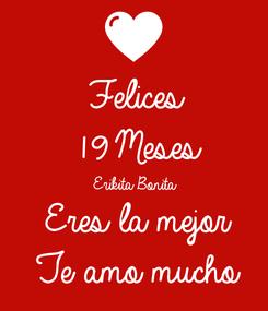 Poster: Felices 19 Meses Erikita Bonita Eres la mejor Te amo mucho