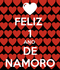 Poster: FELIZ  1 ANO  DE NAMORO