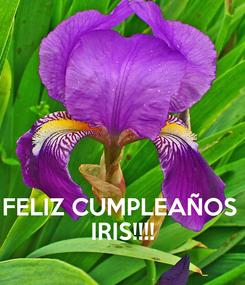 Poster:    FELIZ CUMPLEAÑOS  IRIS!!!!