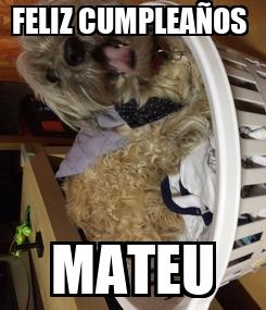 Poster: FELIZ CUMPLEAÑOS  MATEU