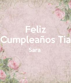 Poster: Feliz Cumpleaños Tia Sara