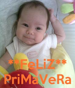 Poster:    **FeLiZ** PriMaVeRa