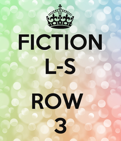 Poster: FICTION L-S  ROW  3