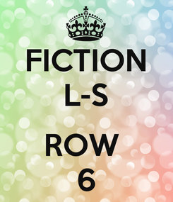 Poster: FICTION L-S  ROW  6