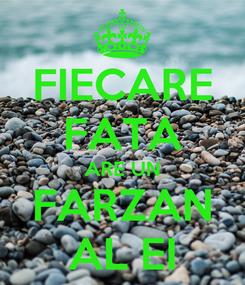 Poster: FIECARE FATA ARE UN FARZAN AL EI