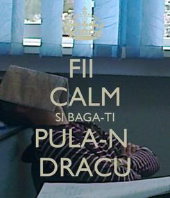 Poster: FII  CALM SI BAGA-TI PULA-N  DRACU