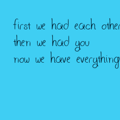 Poster: first we had each other