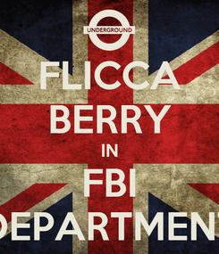 Poster: FLICCA BERRY IN FBI DEPARTMENT