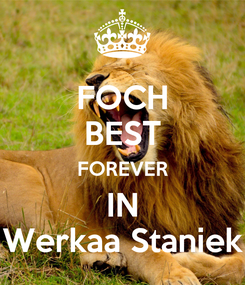 Poster: FOCH BEST FOREVER IN Werkaa Staniek
