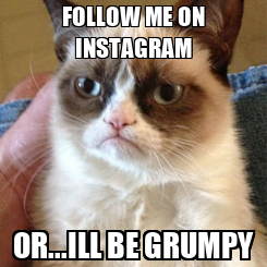 Poster: FOLLOW ME ON INSTAGRAM OR...ILL BE GRUMPY