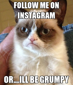 Poster: FOLLOW ME ON INSTAGRAM OR....ILL BE GRUMPY
