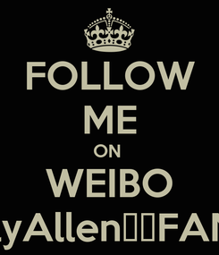 Poster: FOLLOW ME ON  WEIBO LilyAllen中文FANS